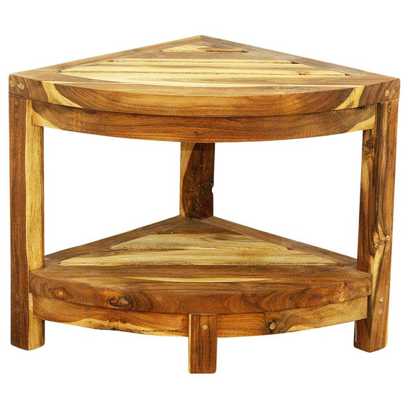 Haussmann® Teak Corner Table 15.5 W X 15.5 D X 16 In H Farmed Teak Wood Teak Oil