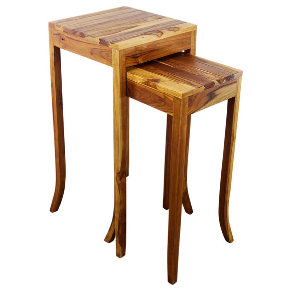 Haussmann® Teak Curved Table Set 1330-1634 Oak Oil