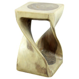 Haussmann® Original Wood Twist Stool 10 X 10 X 16 In High White Oil
