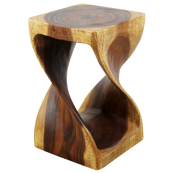 Haussmann® Original Wood Twist Stool 10 X 10 X 16 In High Walnut Oil