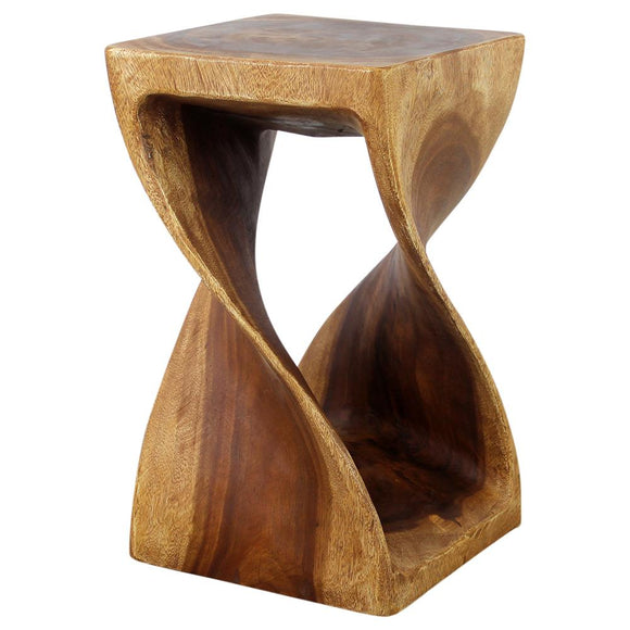 Haussmann® Original Wood Twist Stool 12 X 12 X 20 In High Oak Oil - Haussmann Inc