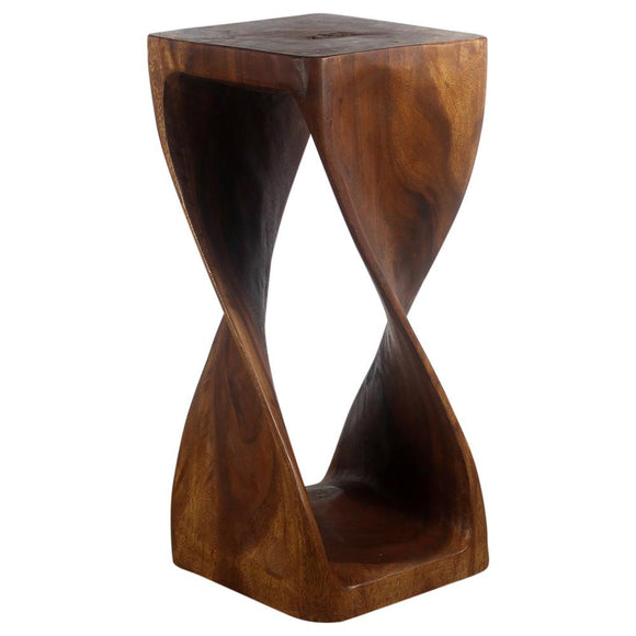 Haussmann® Original Wood Twist Stool 12 X 12 X 26 In High Walnut Oil - Haussmann Inc