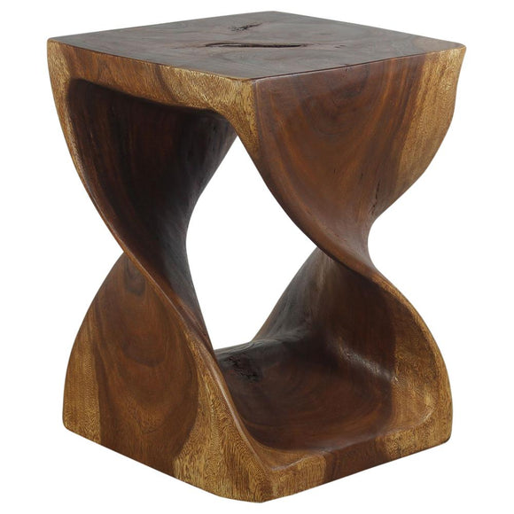 Haussmann® Original Wood Twist Stool 14 X 14 X 20 In High Walnut Oil