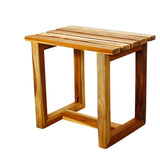 Haussmann® Farmed Teak Spa Stool Straight Design  18 L X 12 W X 16 In H Teak Oil