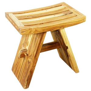 Haussmann® Teak Thai Teak Shower Stool 18 L x 12 W x 18 in H Teak Oil