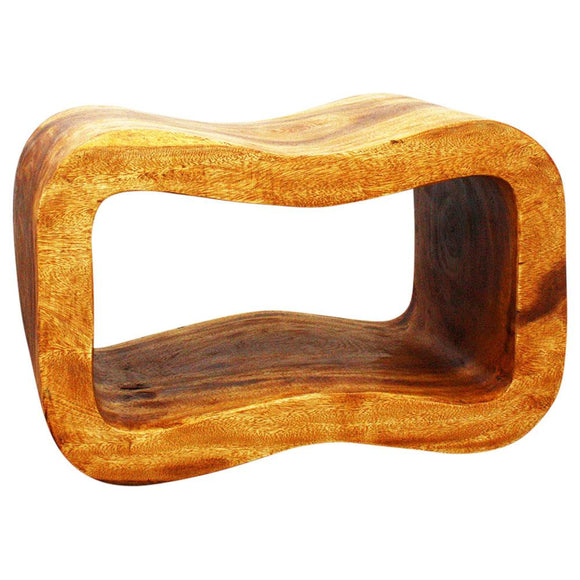 Haussmann Wave Bench 24 In X 13.5 X 15 In H Sustainable Wood Livos Oak Oil