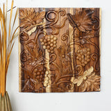 Haussmann® Grapes Wall Panel 30 X 30 In Sustainable Wood Eco Friendly Clear Oil