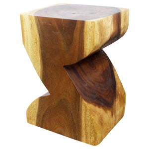 Haussmann® Zat End Table 12 X 14 X 20 In High Sustainable Wood Walnut Oil