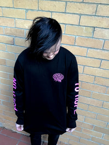 Hold On Long Sleeve (Black/Pink)