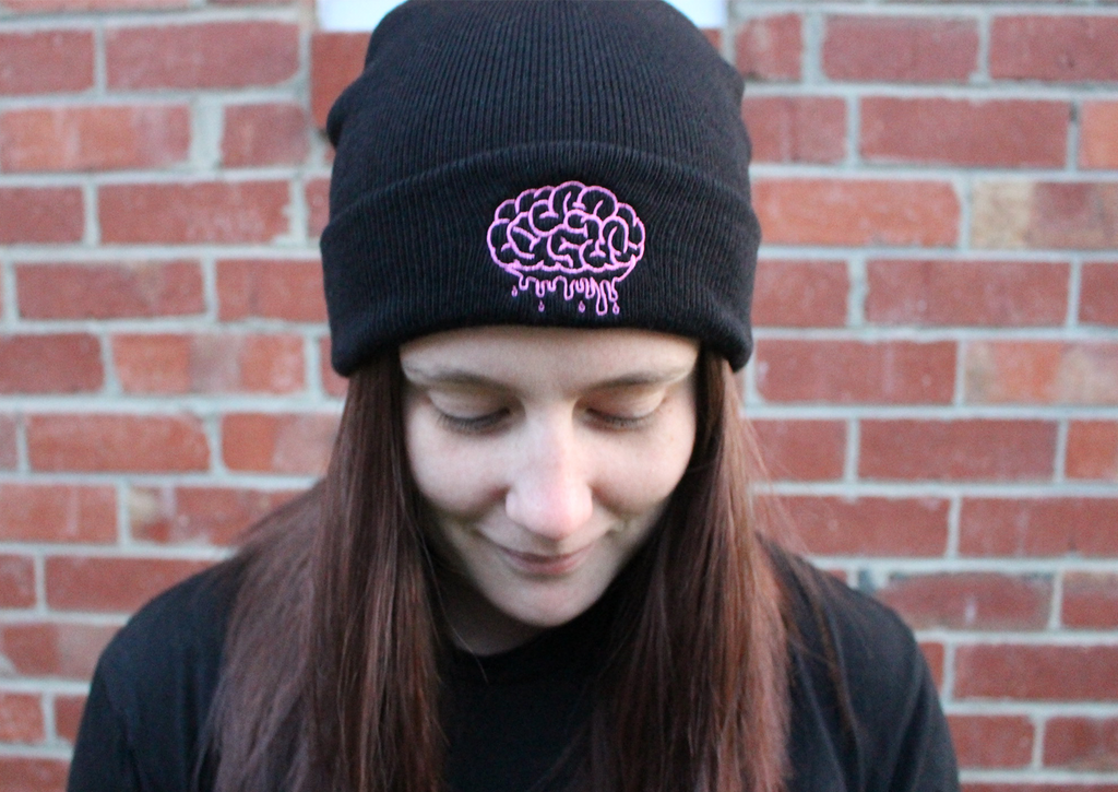 Black Brain Beanie - Brain Drain Co, Headwear