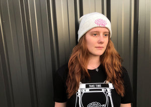 White Brain Beanie - Brain Drain Co, Headwear