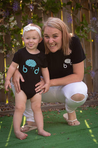 Teal Baby Onesie - Brain Drain Co, Kids
