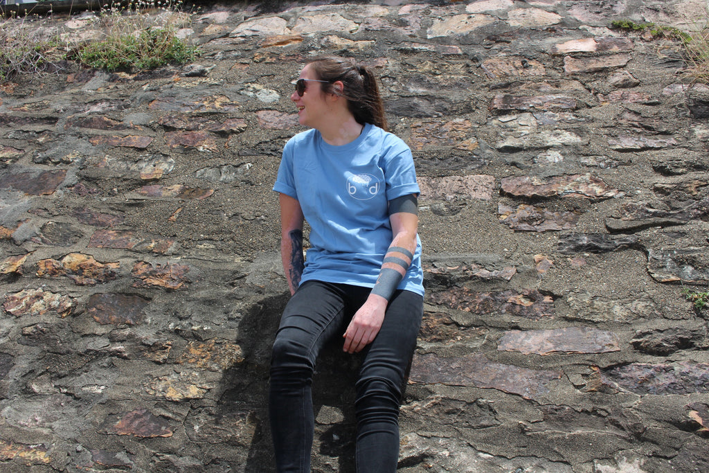 Blue Logo Tee - Brain Drain Co,