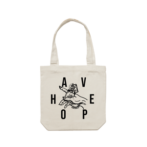 'Have Hope' White Tote - Brain Drain Co, Tote Bag