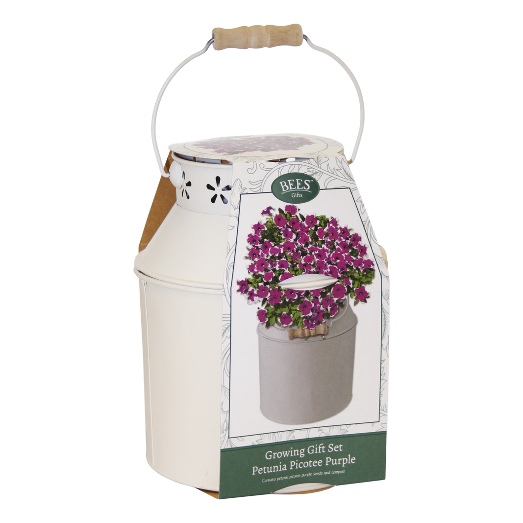 Mother's Day Petunia Milk Churn Planter