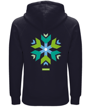Load image into Gallery viewer, Unisex 100% Organic Cotton Hoodie Samaritans Snowflake 2020