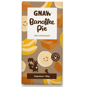 Artisan Banoffee Pie Milk Chocolate Bar by Gnaw, 100g