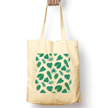 Load image into Gallery viewer, Tropical Leaves Organic Cotton Tote Bag