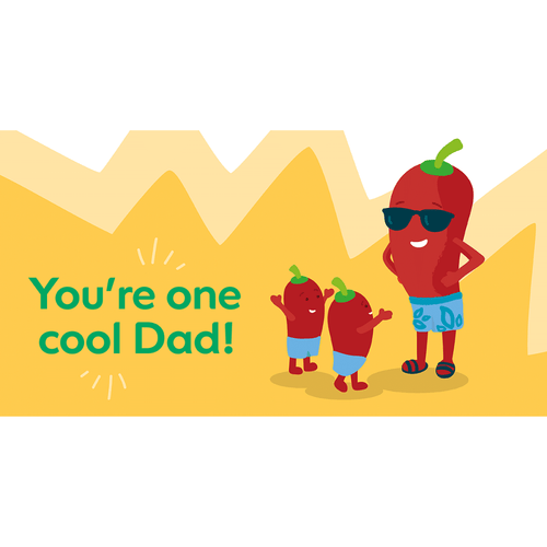 Cool Dad E-Card - Funds Four or Seven Calls For Help