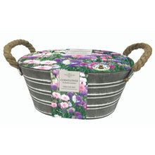 Load image into Gallery viewer, Cornflower 'Polka Dot Mix' in Metal Outdoor Planter