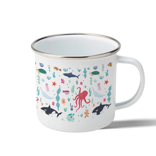 Under The Sea Enamel Mug 300ml