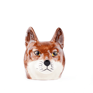 Hand Painted Fox Face Egg Cup