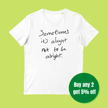 Load image into Gallery viewer, Iconic Slogan T-shirt (100% Organic cotton)