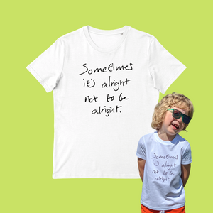 Iconic Slogan T-shirt (100% Organic cotton, men's + kids sizes)