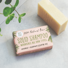 Load image into Gallery viewer, Lavender and Geranium Solid Vegan Shampoo