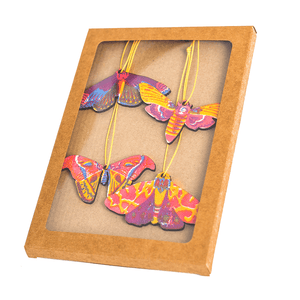 Hand Screen Printed Moth Decorations