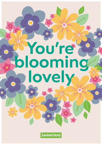 Mother's Day Blooming Lovely E-Card - Funds Four Calls For Help