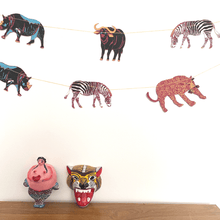 Load image into Gallery viewer, African Animal Hand Printed Garland