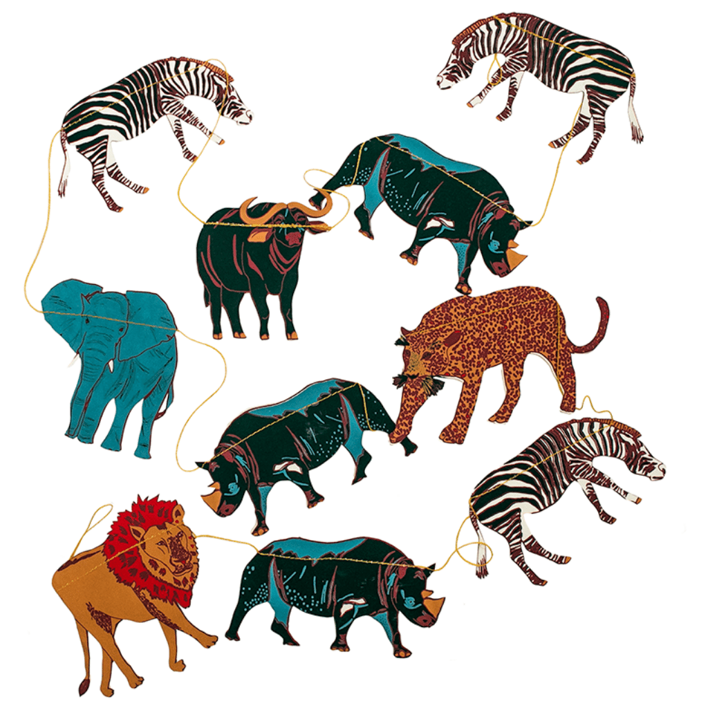 African Animal Hand Printed Garland