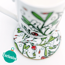 Load image into Gallery viewer, Mistletoe & Hawthorne Coasters, Placemats and Mugs