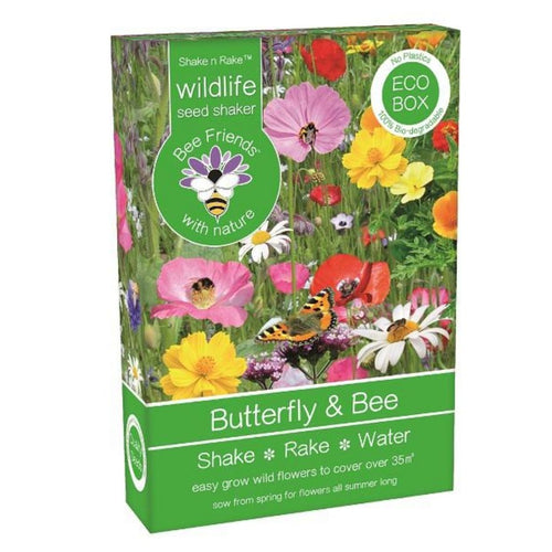 Butterfly & Bee Seeds Shaker Eco Box