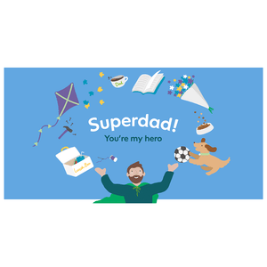 Superdad E-Card - Funds Three Calls For Help