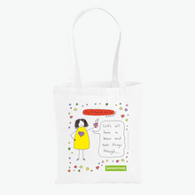Load image into Gallery viewer, Samaritans Brew Monday Tote Bag by Charlotte Reed (available on Everpress)