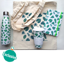 Load image into Gallery viewer, Tropical Leaves Insulated Water Bottle 500ml