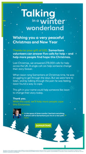 Fund a Call for Help - Talking in a Winter Wonderland e-Card