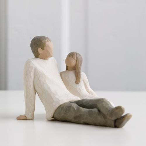 Father and Daughter Willow Tree® Figure Sculpted by Susan Lordi