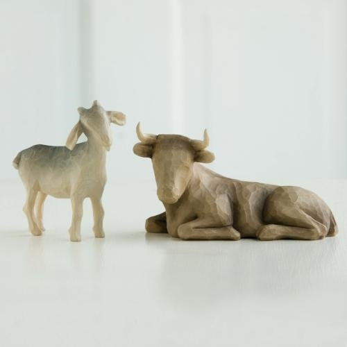 Ox and Goat Willow Tree® Nativity Sculpted by Susan Lordi