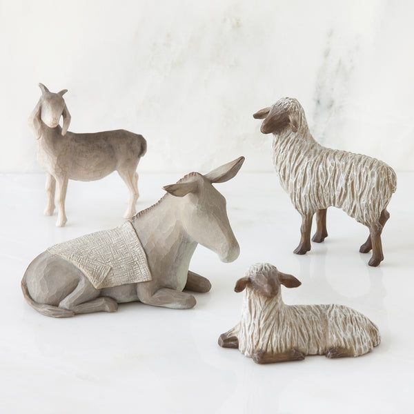 Sheltering Animals for The Holy Family Willow Tree® Nativity - Smaller Scale