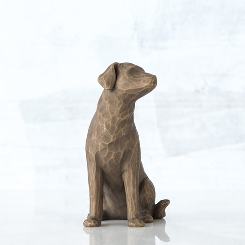 Love my Dog (dark) Willow Tree® Figure Sculpted by Susan Lordi