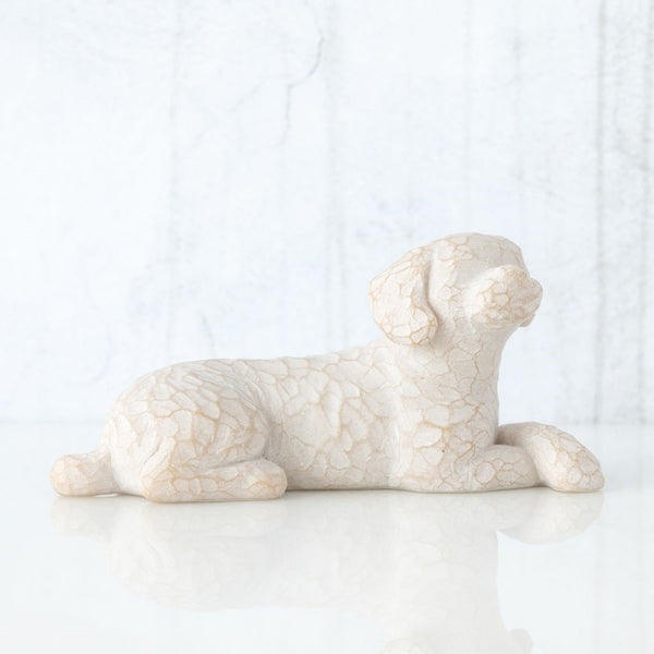 Love my Dog (small,lying down) Willow Tree® Figure Sculpted by Susan Lordi