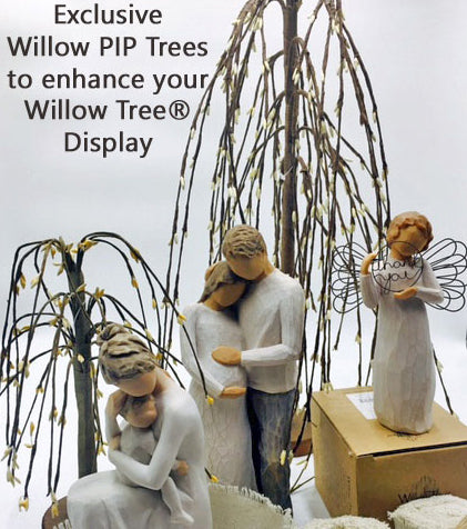 Cream PIP Berry Accent Willow Trees