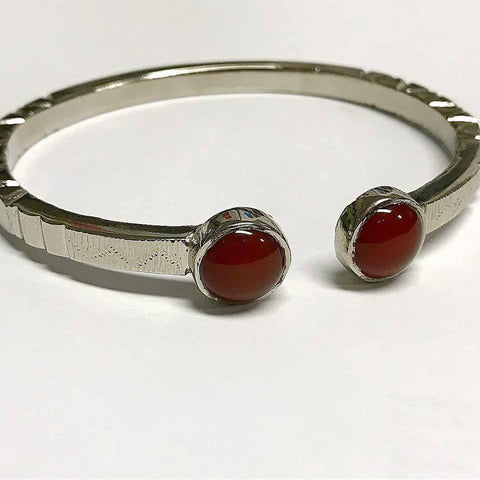 Hussaini Agate Bangle Pure Silver Made