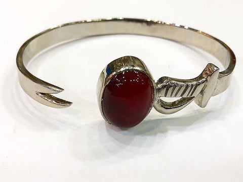 Zulfiqar Agate Bangle Silver Made