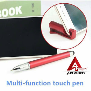 3 in 1 Multi-function Cellphone Holder Stand Stylus Touch Screen Stylus Pens for iPad iPhone 5 6S Samsung Tablet