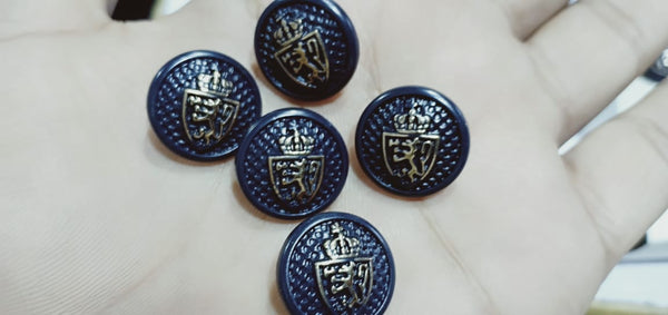 6 Pieces Metal fancy buttons