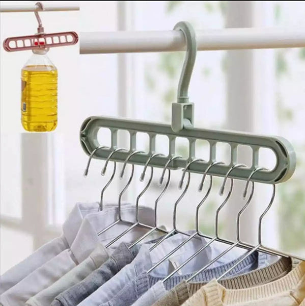 Pack Of 3 Super Magic Changeable Clothes Pkuto Plastic Hangers Space Saving  Saver Wonder Closet Organizer 9 Holes Holder Clothes and Accessories Hangers